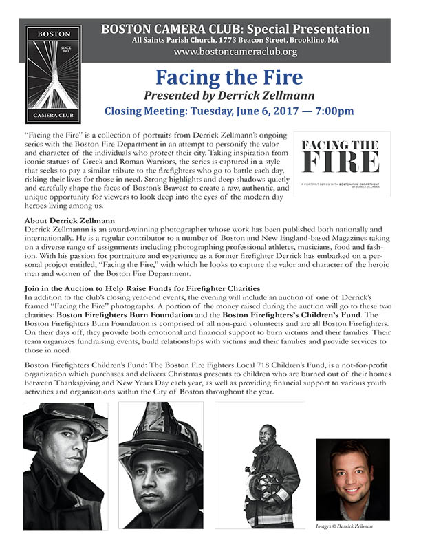Derrick Zellmann -- Facing the Fire presentation: Boston Camera Club
